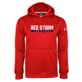 Under Armour Red Performance Sweats Team Hoodie-Lacrosse Bar Design