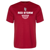 Syntrel Performance Red Tee-Basketball Sharp Net Design