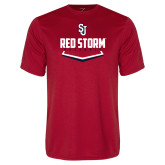 Syntrel Performance Red Tee-Baseball Plate Design