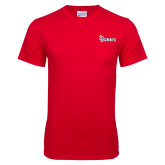 Red T Shirt w/Pocket-St Johns
