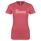 Next Level Ladies SoftStyle Junior Fitted Pink Tee-St Johns