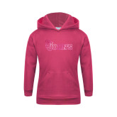 Youth Raspberry Fleece Hoodie-St Johns Foil