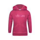 Youth Raspberry Fleece Hoodie-St Johns Foil