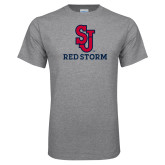 Grey T Shirt-SJ Redstorm Stacked