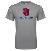 Grey T Shirt-SJ Redstorm Stacked