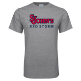 Grey T Shirt-St Johns Red Storm