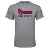 Grey T Shirt-St Johns Red Storm
