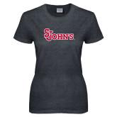 Ladies Dark Heather T Shirt-St Johns