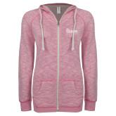 ENZA Ladies Hot Pink Marled Full Zip Hoodie-St Johns