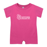 Bubble Gum Pink Infant Romper-St Johns