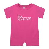 Bubble Gum Pink Infant Romper-St Johns