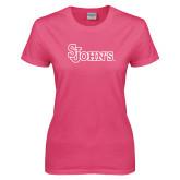 Ladies Fuchsia T Shirt-St Johns