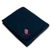 Navy Arctic Fleece Blanket-SJ Redstorm Stacked