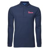 Navy Long Sleeve Polo-St Johns