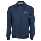 Navy Players Jacket-University Mark Stacked