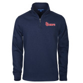 Navy Slub Fleece 1/4 Zip Pullover-St Johns