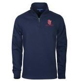 Navy Slub Fleece 1/4 Zip Pullover-SJ Redstorm Stacked