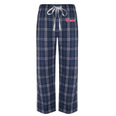 Navy/White Flannel Pajama Pant-St Johns