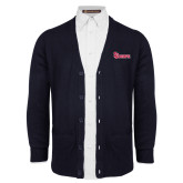 Navy V Neck Cardigan w/Pockets-St Johns
