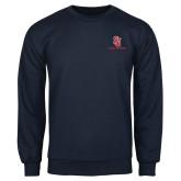 Navy Fleece Crew-SJ Redstorm Stacked