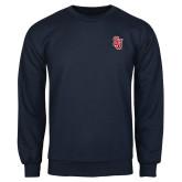 Navy Fleece Crew-SJ