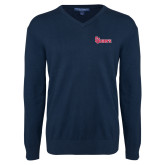 Classic Mens V Neck Navy Sweater-St Johns
