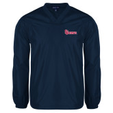 V Neck Navy Raglan Windshirt-St Johns