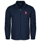 Full Zip Navy Wind Jacket-SJ Redstorm Stacked