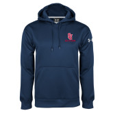 Under Armour Navy Performance Sweats Team Hoodie-SJ Redstorm Stacked