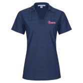 Ladies Indigo Blue Horizontal Textured Polo-St Johns