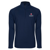 Sport Wick Stretch Navy 1/2 Zip Pullover-University Mark Stacked