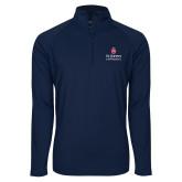 Sport Wick Stretch Navy 1/2 Zip Pullover-University Mark Stacked