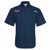 Columbia Tamiami Performance Navy Short Sleeve Shirt-St Johns