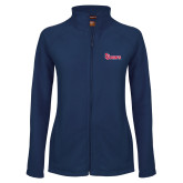 Ladies Fleece Full Zip Navy Jacket-St Johns