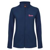 Ladies Fleece Full Zip Navy Jacket-St Johns