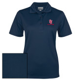 Ladies Navy Dry Mesh Polo-SJ Redstorm Stacked