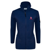 Columbia Ladies Full Zip Navy Fleece Jacket-SJ Redstorm Stacked