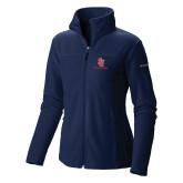 Columbia Ladies Full Zip Navy Fleece Jacket-SJ Redstorm Stacked