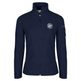 Columbia Ladies Full Zip Navy Fleece Jacket-We are New Yorks Team