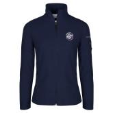 Columbia Ladies Full Zip Navy Fleece Jacket-We are New Yorks Team