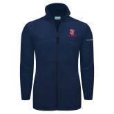 Columbia Full Zip Navy Fleece Jacket-SJ Redstorm Stacked