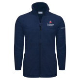 Columbia Full Zip Navy Fleece Jacket-University Mark Stacked