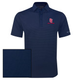 Columbia Navy Omni Wick Sunday Golf Polo-SJ Redstorm Stacked