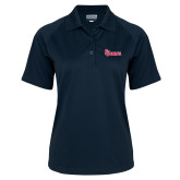Ladies Navy Textured Saddle Shoulder Polo-St Johns