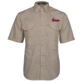 Khaki Short Sleeve Performance Fishing Shirt-St Johns