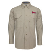 Khaki Long Sleeve Performance Fishing Shirt-St Johns