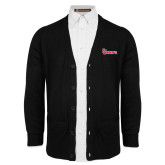 Black V Neck Cardigan w/Pockets-St Johns