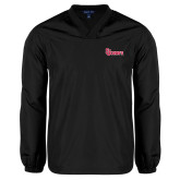 V Neck Black Raglan Windshirt-St Johns