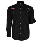 Columbia Bahama II Black Long Sleeve Shirt-St Johns