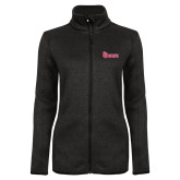 Black Heather Ladies Fleece Jacket-St Johns